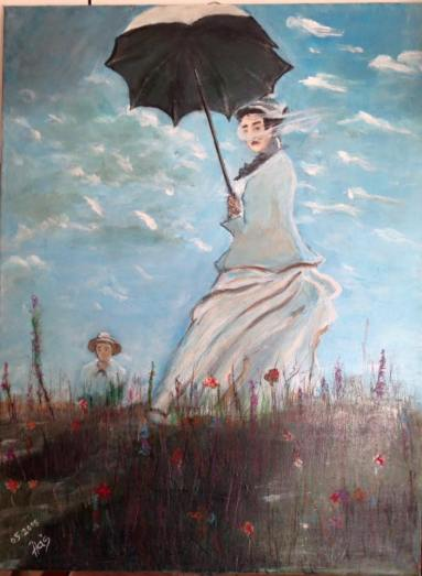 Woman with a Parasol 80x60