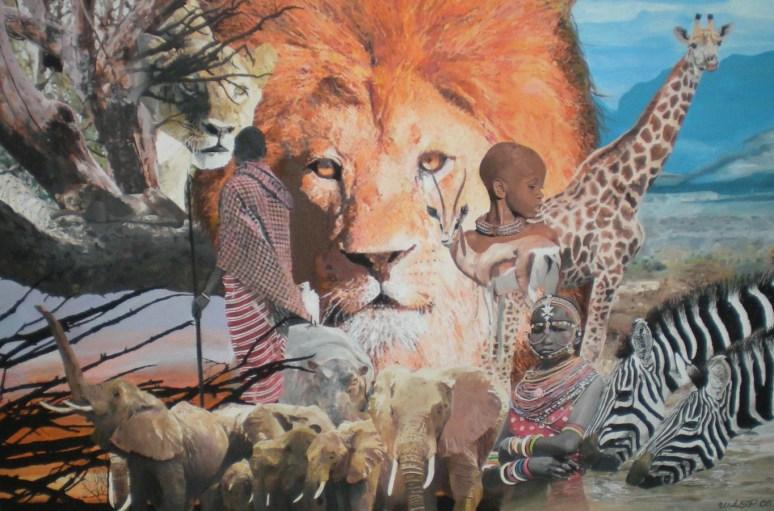 124) MEIN TRAUM VON AFRIKA-Acryl auf Leinwand-ca. 150 x 100cm-November 2011